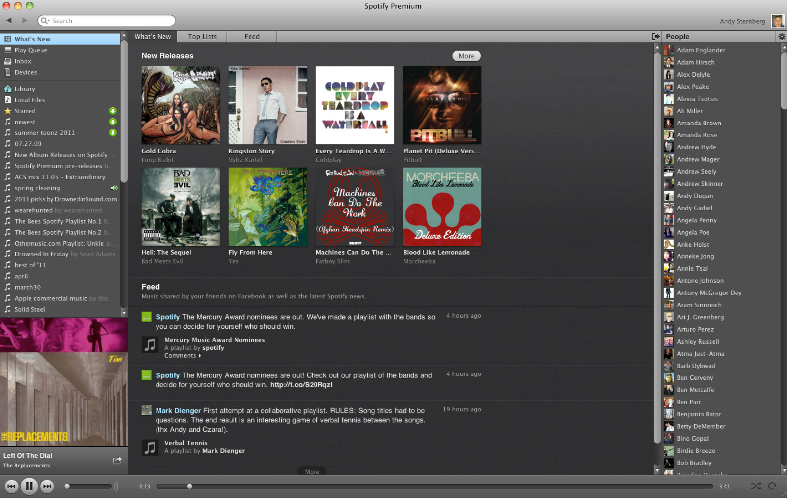 Figure 1: Spotify Premium desktop interface